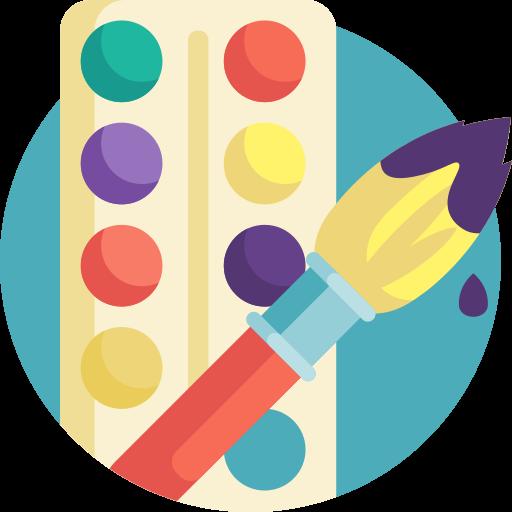 Utilize as cores e a marca da sua escola